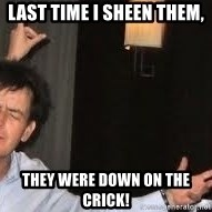 Drunk Charlie Sheen - Last time I Sheen them, they were down on the crick!