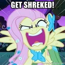 angry-fluttershy - Get Shreked!