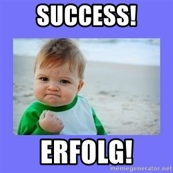 Baby fist - Success! Erfolg!