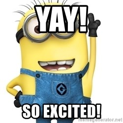 Despicable Me Minion - Yay! So Excited!