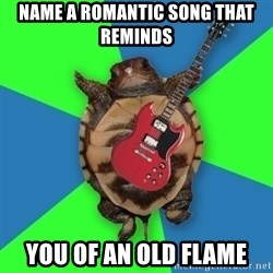 Aspiring Musician Turtle - Name a Romantic Song That reminds  You of an Old Flame