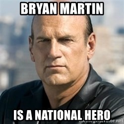 Jesse Ventura - Bryan Martin Is a national hero