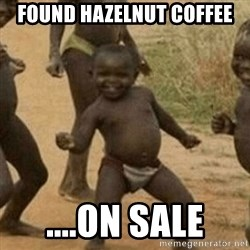 Little Black Kid - found hazelnut coffee ....on sale