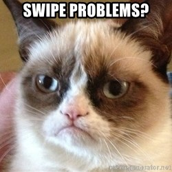 Angry Cat Meme - swipe problems?