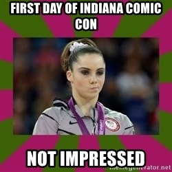 Kayla Maroney - First Day of Indiana Comic Con not impressed