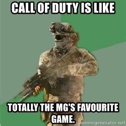 philosoraptor call of duty - Call of Duty is like totally the MG's favourite game.