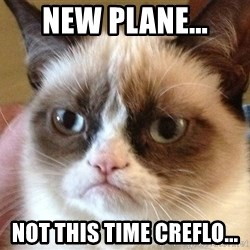 Angry Cat Meme - New Plane... Not this time Creflo...