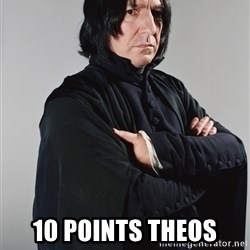 Snape -  10 points theos