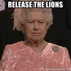 the queen olympics - Release the lions