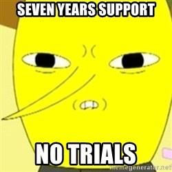 LEMONGRAB - Seven years support no trials