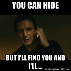 liam neeson taken - You can hide But I'll find you and I'll....