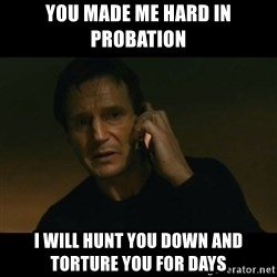 liam neeson taken - You made me hard in probation I will hunt you down and torture you for days