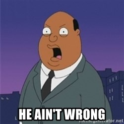 ollie williams -  he ain't wrong