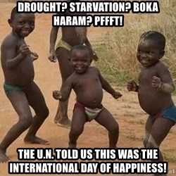 Dancing African Kid - Drought? starvation? Boka haram? pffft! the u.n. told us this was the international day of happiness!