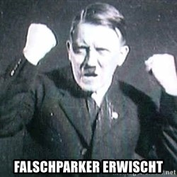Successful Hitler -  Falschparker erwischt