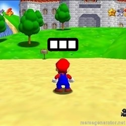 Mario looking at castle - ...