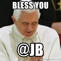 Pedo Pope - Bless you @jb