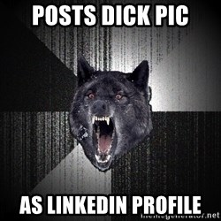 Insanity Wolf - posts dick pic as linkedin profile