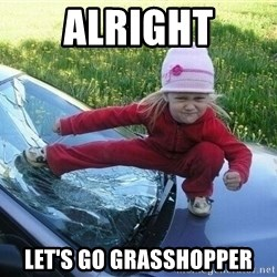 Angry Karate Girl - alright let's go grasshopper