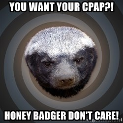 Fearless Honeybadger - You want your CPAP?! Honey badger don't care!