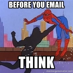 crotch punch spiderman - before you email think