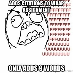 Fffuuu - Adds citations to wrap assignment only adds 9 words