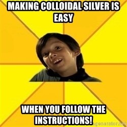 es bakans - making colloidal silver is easy when you follow the instructions!