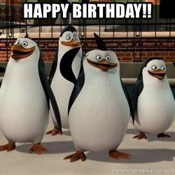 Madagascar Penguin - Happy Birthday!!