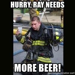 Furious Firefighter - Hurry, Ray needs more beer!