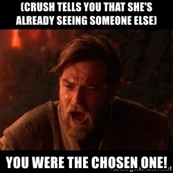 You were the chosen one  - (crush tells you that she's already seeing someone else) you were the chosen one!