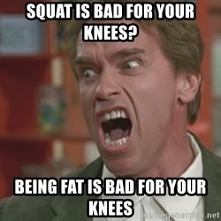Arnold - Squat is bad for your knees? Being fat is bad for your knees