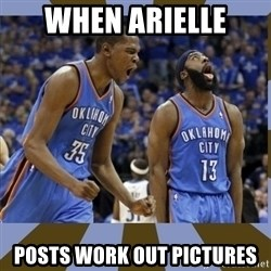 Durant & James Harden - When Arielle Posts work out Pictures