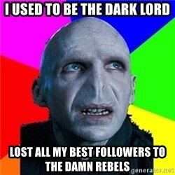 Poor Planning Voldemort - I used to be the dark lord Lost all my best followers to the damn Rebels
