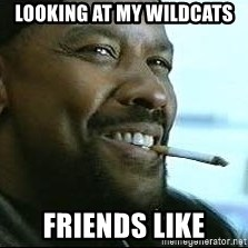Denzel Washington Cigarette - Looking at my Wildcats Friends like