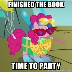 pinkie pie dragonshy - finished the book time to party
