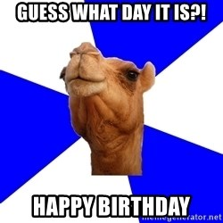 Classics Camel - guess what day it is?! happy birthday