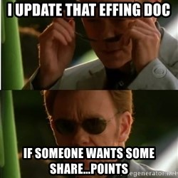 Csi - I update that Effing doc If someone wants some share...points