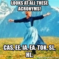 look at all these things - Looks at all these acronyms! cas, ee, ia, ea, tok, sl, hl.