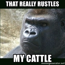 Rustled Jimmies - that really rustles my cattle