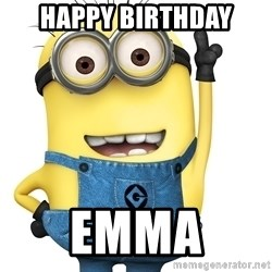 Despicable Me Minion - Happy Birthday Emma