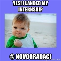 Baby fist - Yes! I Landed my internship @ Novogradac!