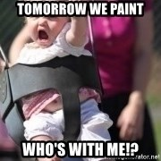 little girl swing - Tomorrow we paint Who's with me!?