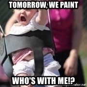 little girl swing - Tomorrow, we paint Who's with me!?