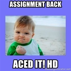 Baby fist - Assignment back Aced it! HD