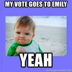 Baby fist - My vote goes to Emily  Yeah