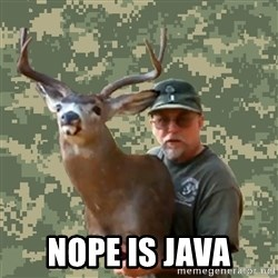 Chuck Testa Nope -  Nope is java