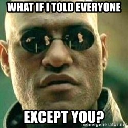 What If I Told You - what if i told everyone except you?