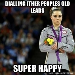 unimpressed McKayla Maroney 2 - Dialling ither peoples old leads SUPER HAPPY