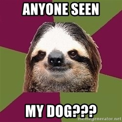 Just-Lazy-Sloth - anyone seen my dog???