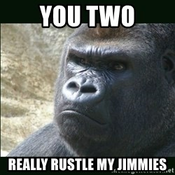Rustled Jimmies - You two Really rustle my jimmies